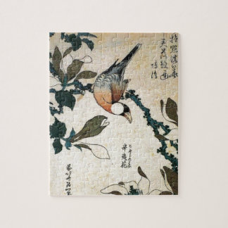 Parrot and Flowers Jigsaw Puzzle