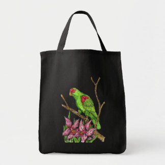 Parrot and Orchid bag Grocery Tote Bag