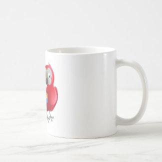 Parrot Animal Cartoon Character Coffee Mug