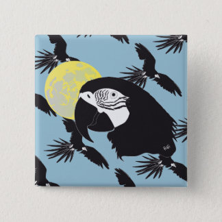Parrot Ara magnet Button