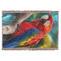 Parrot Art 1 Throw Blanket