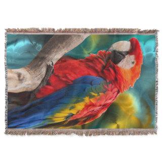 Parrot Art 1 Throw Blanket
