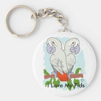 Parrot Badge Key Chains