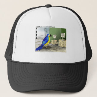 Parrot Bathroom Fixtures Funny Cartoon Gifts Trucker Hat