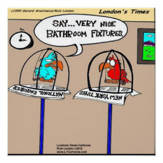 Parrot Bathroom Fixtures Funny Poster Poster