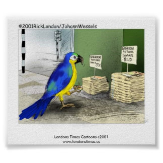 Parrot Bathroom Fixtures Poster