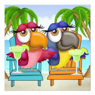 Parrot Beach Party Invitation - SRF