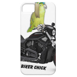 Parrot Biker Chick on Harley Davidson iPhone SE/5/5s Case