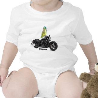 Parrot Biker Chick on Harley Davidson Romper