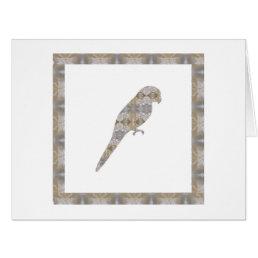 PARROT Bird CRYSTAL Jewel NVN456 KIDS LARGE fun bi Card