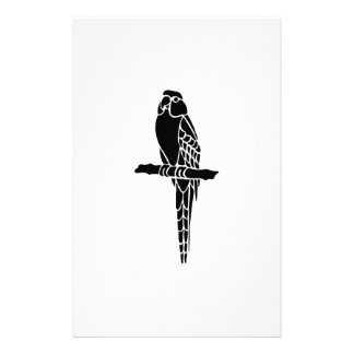 Parrot Bird Silhouette Customized Stationery