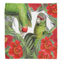 Parrot Birds Wildlife Animal Floral Bandana
