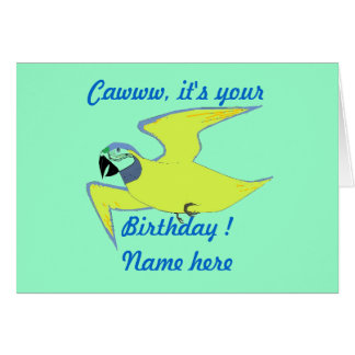 Parrot Birthday Card Add name front