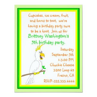 Parrot Birthday Invitation