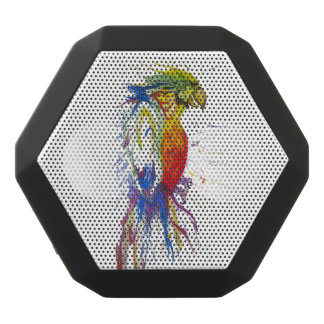 Parrot Budgie Bird Black Bluetooth Speaker