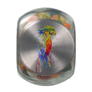 Parrot Budgie Bird Jelly Belly Candy Jars