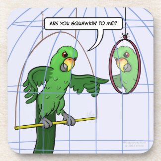 Parrot Cage Fight Coasters