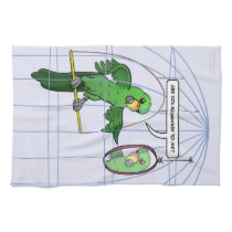 Parrot Cage Fight Kitchen Towel