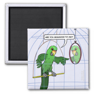 Parrot Cage Fight Magnet