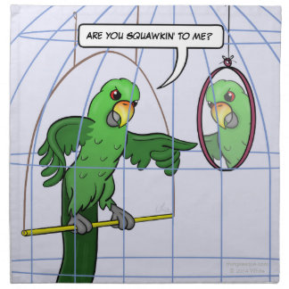 Parrot Cage Fight Napkins