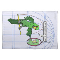 Parrot Cage Fight Placemat