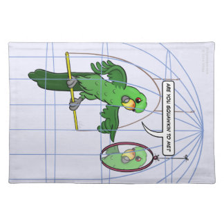 Parrot Cage Fight Placemat Cloth Placemat