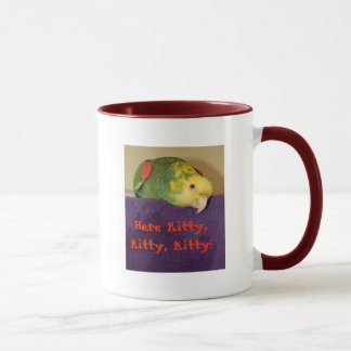 Parrot calling kitty! mug