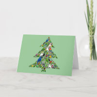 Parrot Christmas Tree Standard Holiday Card