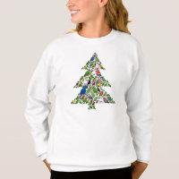Parrot Christmas Tree Girls' Hanes ComfortBlend® Sweatshirt