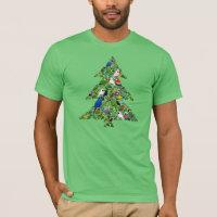 Parrot Christmas Tree Men's Basic American Apparel T-Shirt