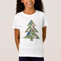 Parrot Christmas Tree Girls' Fine Jersey T-Shirt