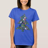 Parrot Christmas Tree Women's Basic T-Shirt