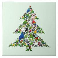 Parrot Christmas Tree Large Tile (6