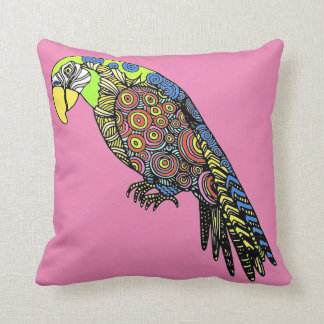 parrot colorful exotic birds cushion pillow