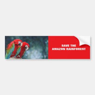 Parrot Couple Bumper Sticker