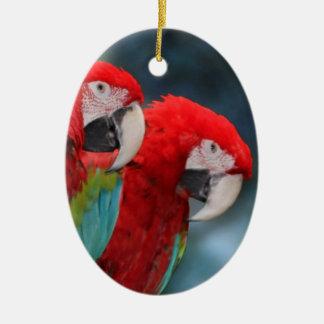 Parrot Couple Ceramic Ornament