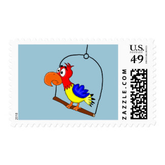 Parrot design paper products stamp