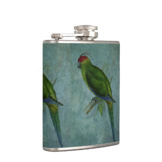 Parrot Fashion Hip Flask