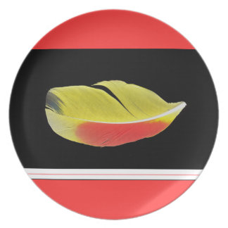 parrot feather plate