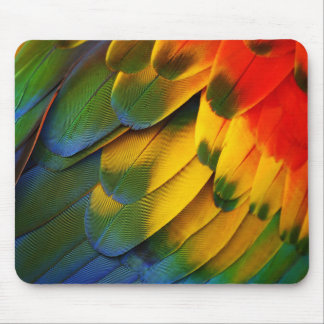 Parrot Feathers Mouse Pad