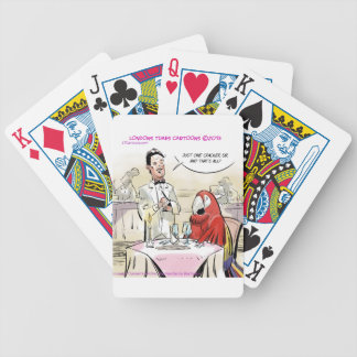 Parrot Fine Dining Funny Deck Of Cards
