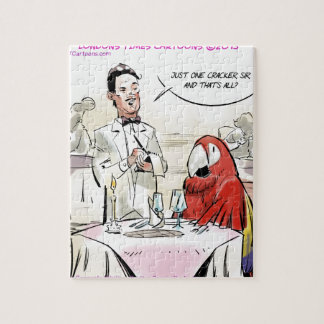 Parrot Fine Dining Funny Jigsaw Puzzle