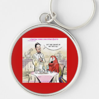 Parrot Fine Dining Funny Keychain