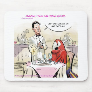 Parrot Fine Dining Funny Mouse Pad
