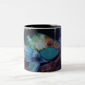 Parrot Fish Two-Tone Coffee Mug