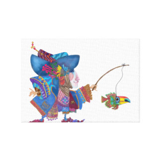 Parrot Fishing Canvas Print
