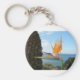 parrot-flower key chains