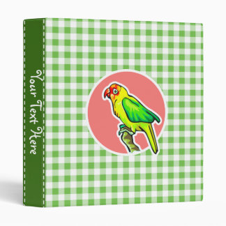 Parrot; Green Gingham Binder