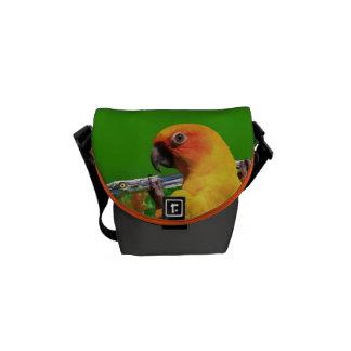 Parrot Hanging on a Limb Mini Zero Messenger Bag