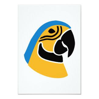 Parrot head personalized invite
